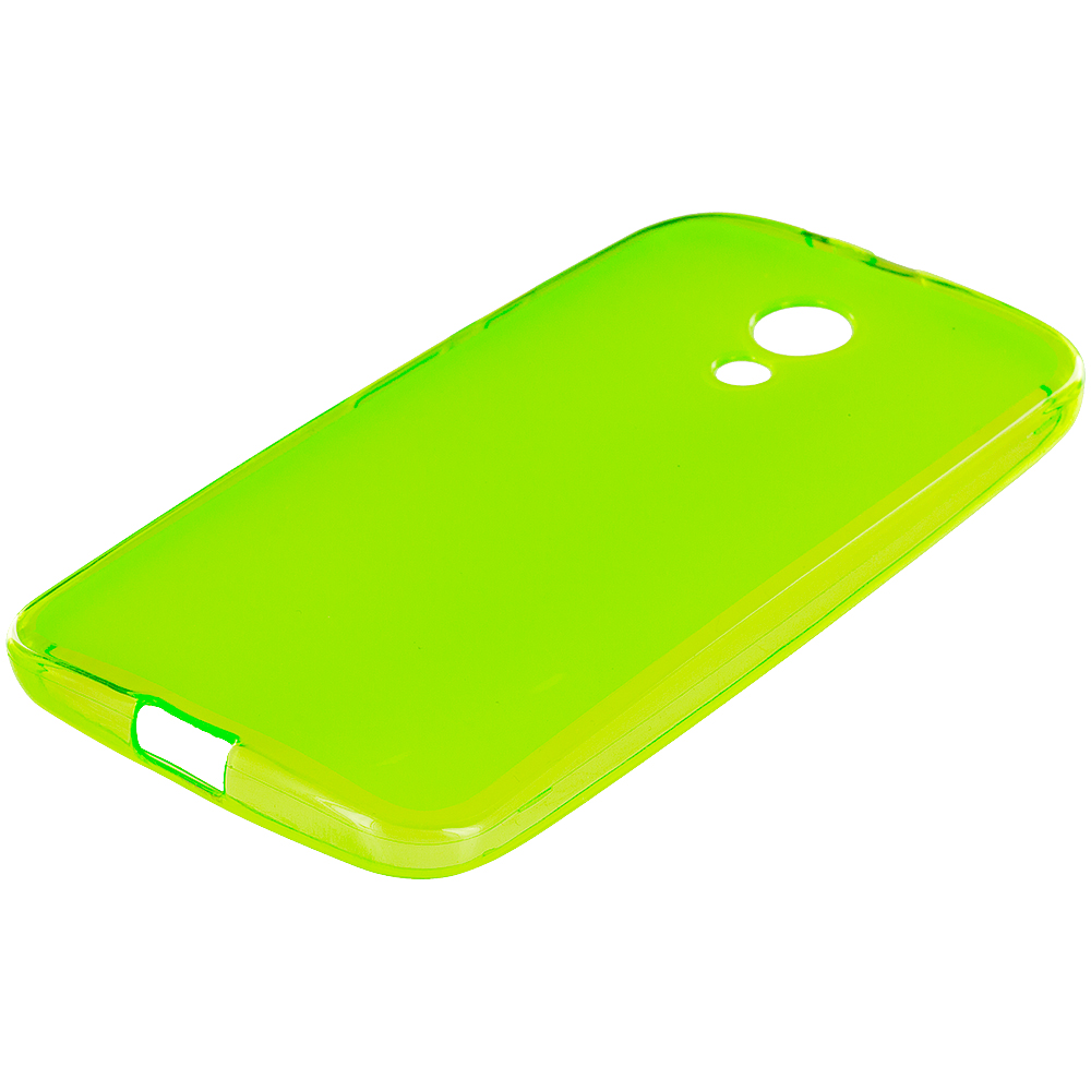 Motorola Moto G 2nd Gen 2014 Neon Green TPU Rubber Skin Case Cover