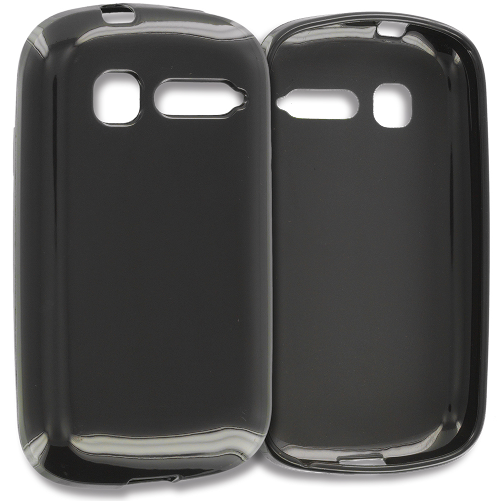 Alcatel One Touch Pop C1 Black TPU Rubber Skin Case Cover