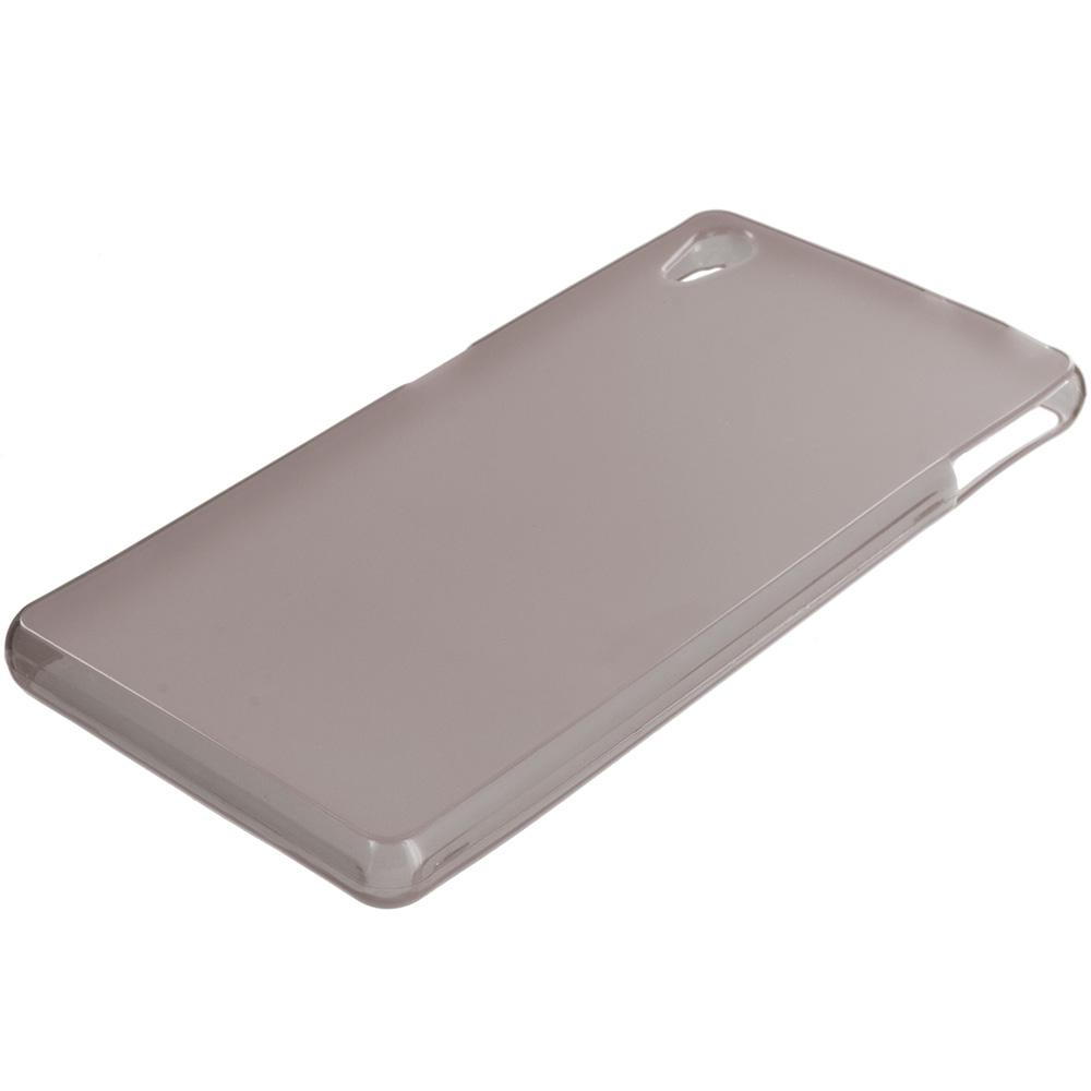 Sony Xperia Z3v Verizon Smoke TPU Rubber Skin Case Cover