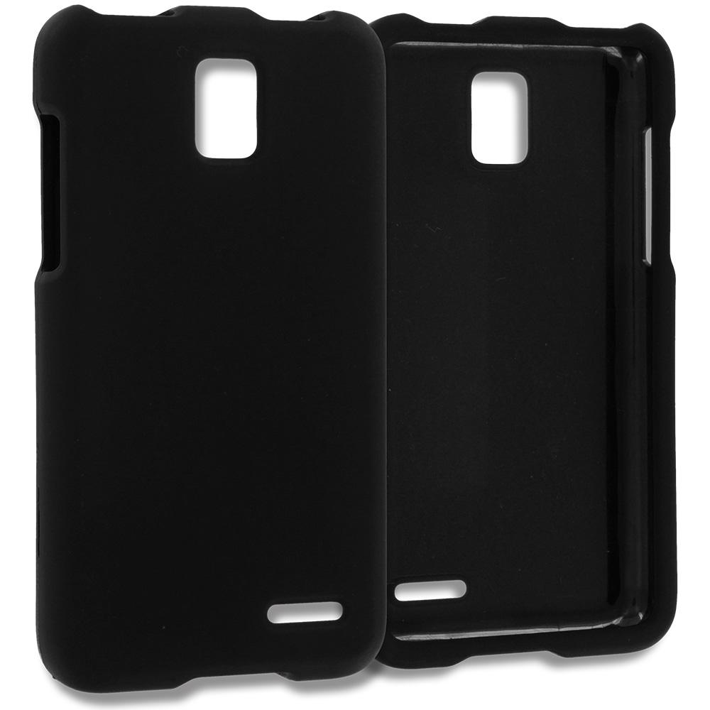 ZTE Rapido Z932C Black Hard Rubberized Case Cover