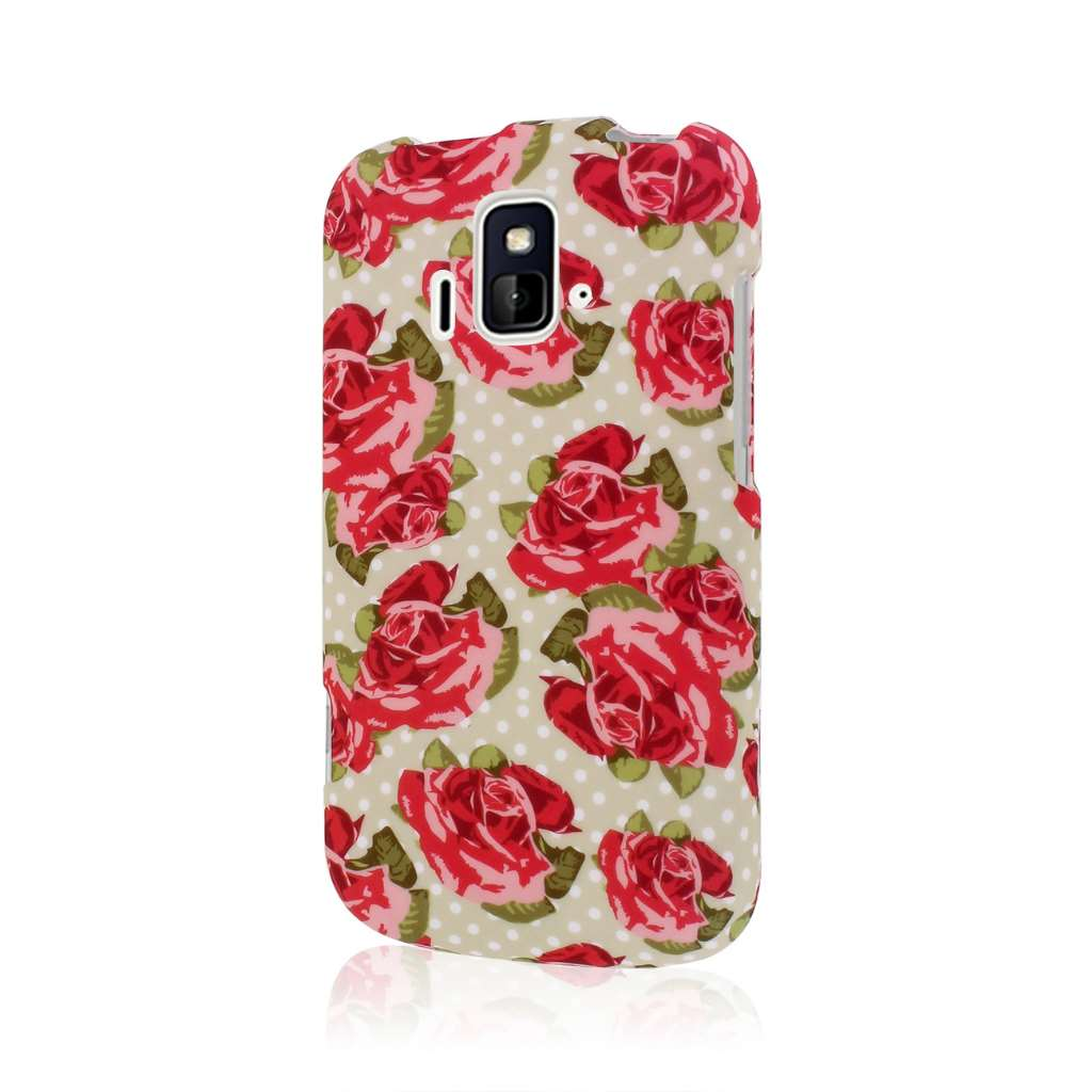 ZTE Radiant/ Sonata 4G - Vintage Red Roses MPERO SNAPZ - Rubberized Case