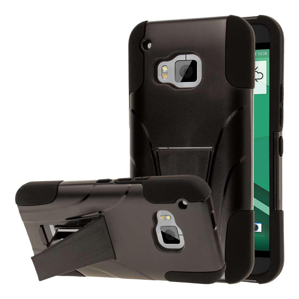 HTC One M9 - Black MPERO IMPACT X - Kickstand Case Cover