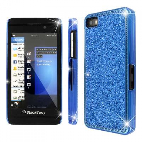 Blackberry Z10 MPERO Blue Sparkling Glitter Slim-fit Glam Case Cover