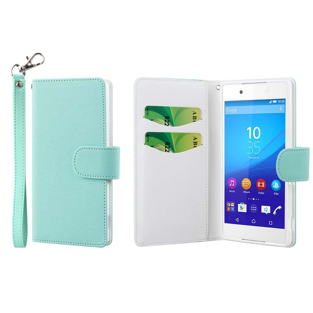 Sony Xperia Z4 - Mint MPERO FLEX FLIP Wallet Case Cover