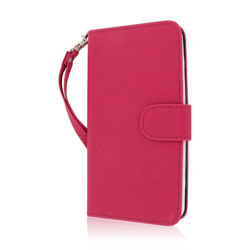 LG G Flex - Hot Pink MPERO FLEX FLIP Wallet Case Cover