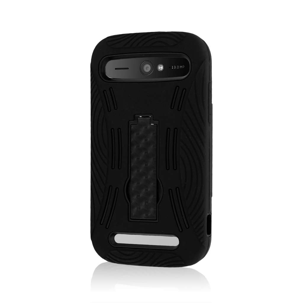 ZTE Grand S Pro - Black MPERO IMPACT XL - Kickstand Case Cover