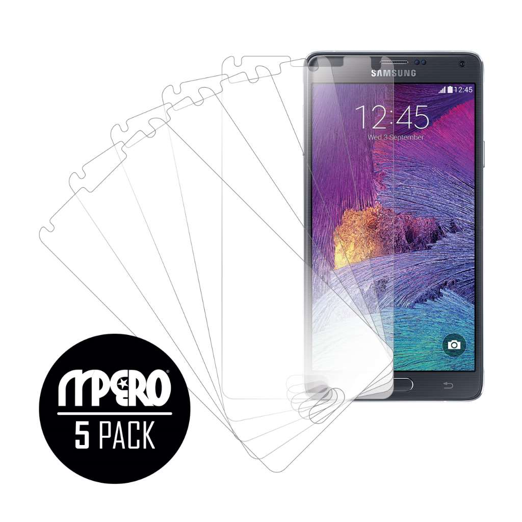 Samsung Galaxy Note 4 MPERO 5 Pack of Ultra Clear Screen Protectors