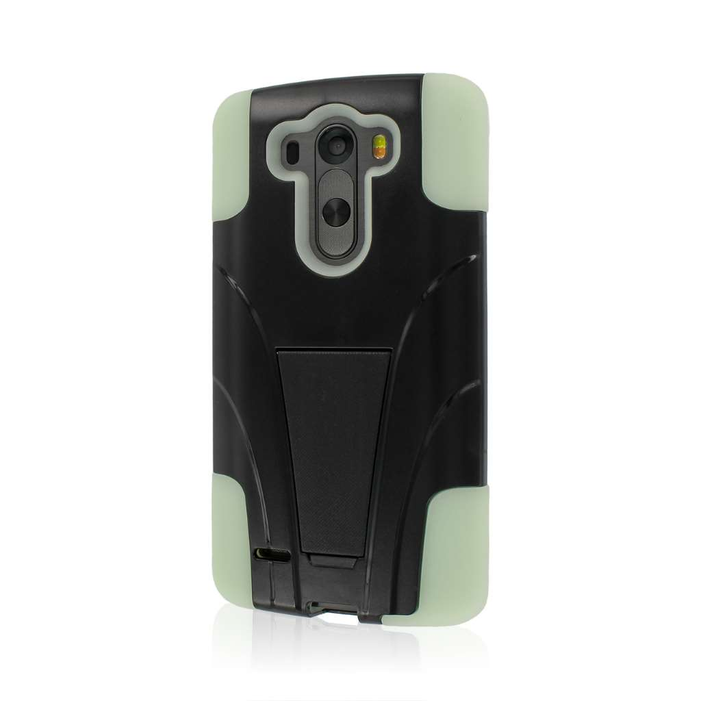 LG G3 - Glow In The Dark Green MPERO IMPACT X - Kickstand Case Cover