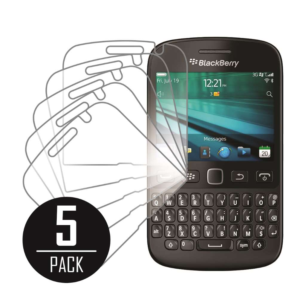 Blackberry 9720 MPERO 5 Pack of Clear Screen Protectors