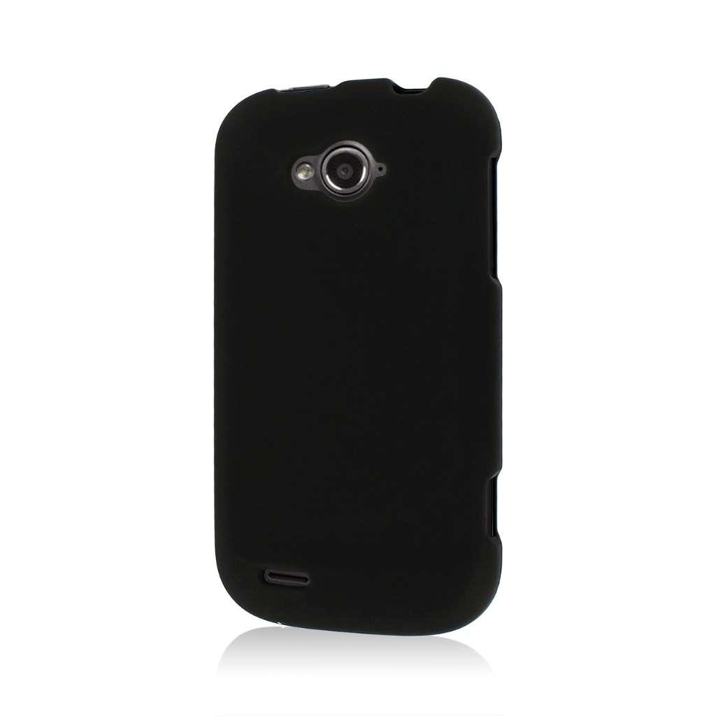 ZTE Savvy - Black MPERO SNAPZ - Rubberized Case Cover