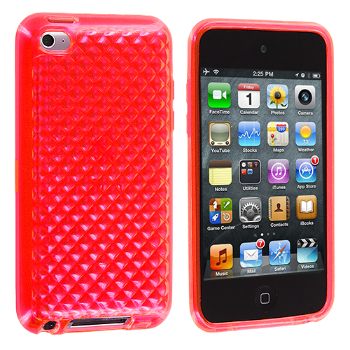 Apple iPod Touch 4th Generation Red Diamond TPU Rubber Skin Case Cover