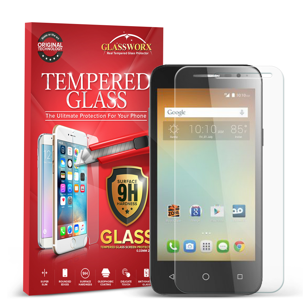 Alcatel One Touch Elevate GlassWorX HD Clear Tempered Glass Screen Protector
