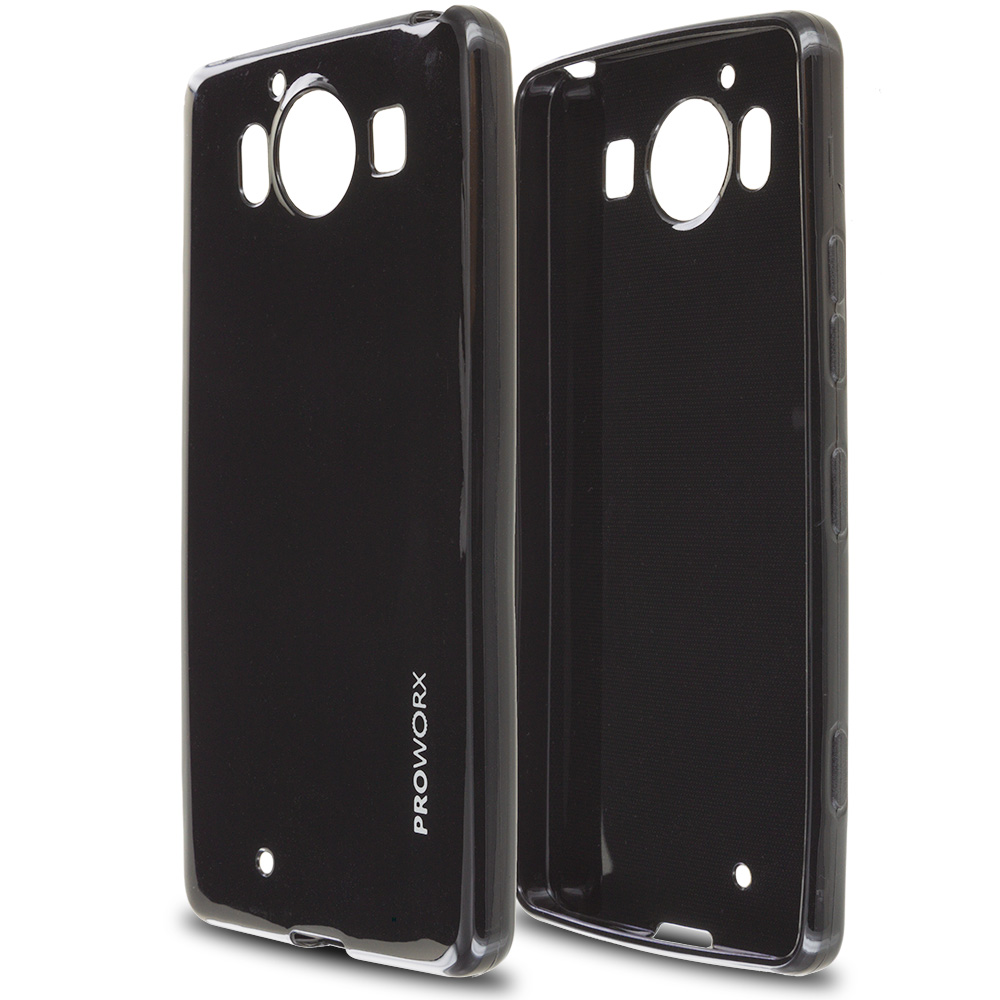 Microsoft Lumia 950 Black ProWorx Ultra Slim Thin Scratch Resistant TPU Silicone Case Cover