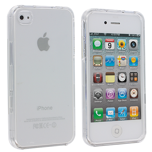 Apple iPhone 4 / 4S Clear Crystal Transparent Hard Case Cover