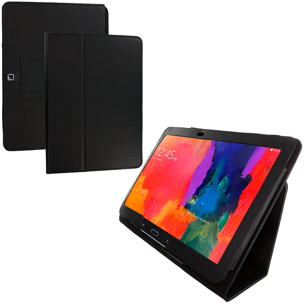 Samsung Galaxy Tab PRO 10.1 Black Folio Pouch Flip Case Cover Stand
