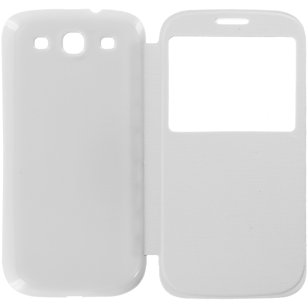 Samsung Galaxy S3 White Battery Door Rear Replacement Ultra Slim Wallet Flip Case Cover