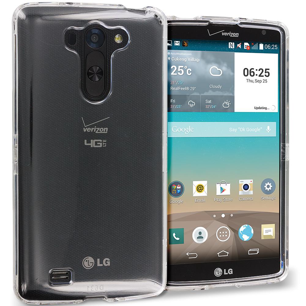 LG G Vista Clear Crystal Transparent Hard Case Cover