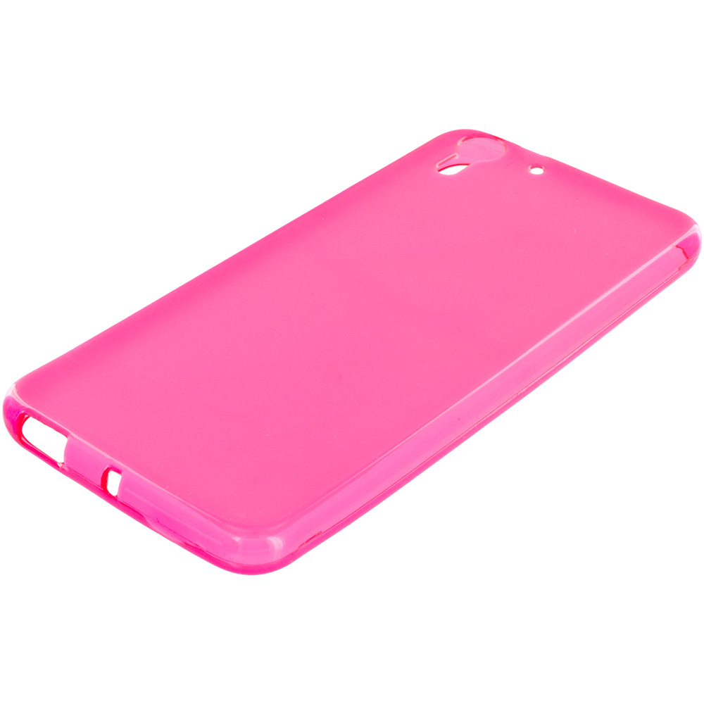 HTC Desire EYE Hot Pink TPU Rubber Skin Case Cover