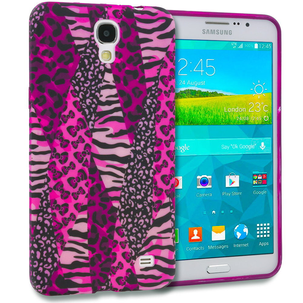 Samsung Galaxy Mega 2 Bowknot Zebra TPU Design Soft Rubber Case Cover