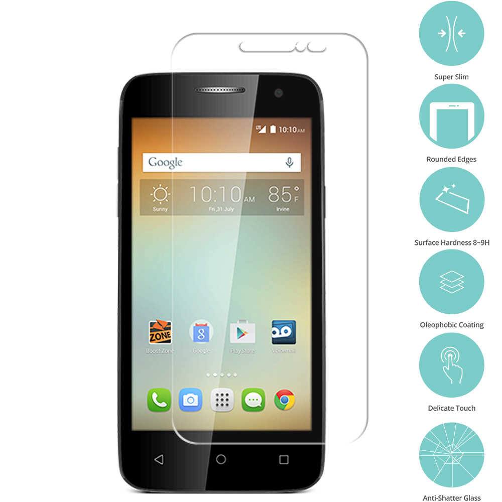 Alcatel One Touch Elevate Clear Tempered Glass Film Screen Protector Clear