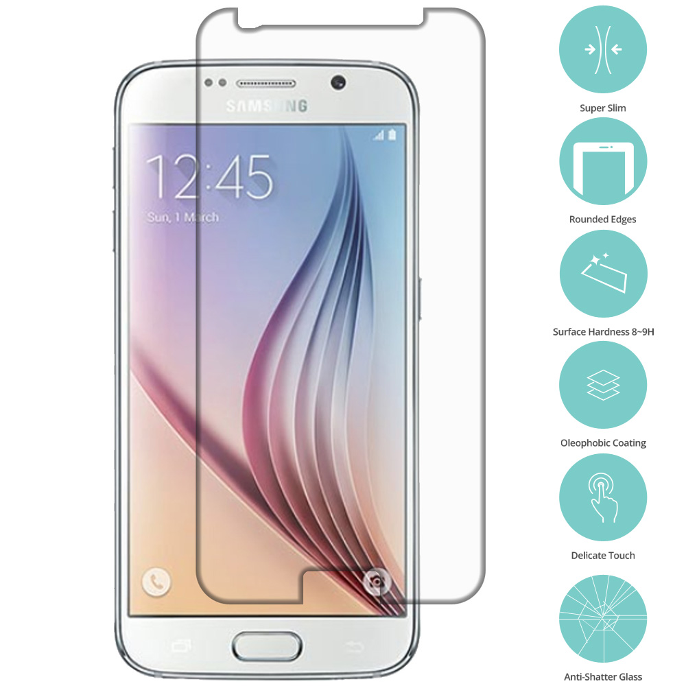 Samsung Galaxy S6 Clear Tempered Glass Film Screen Protector Clear