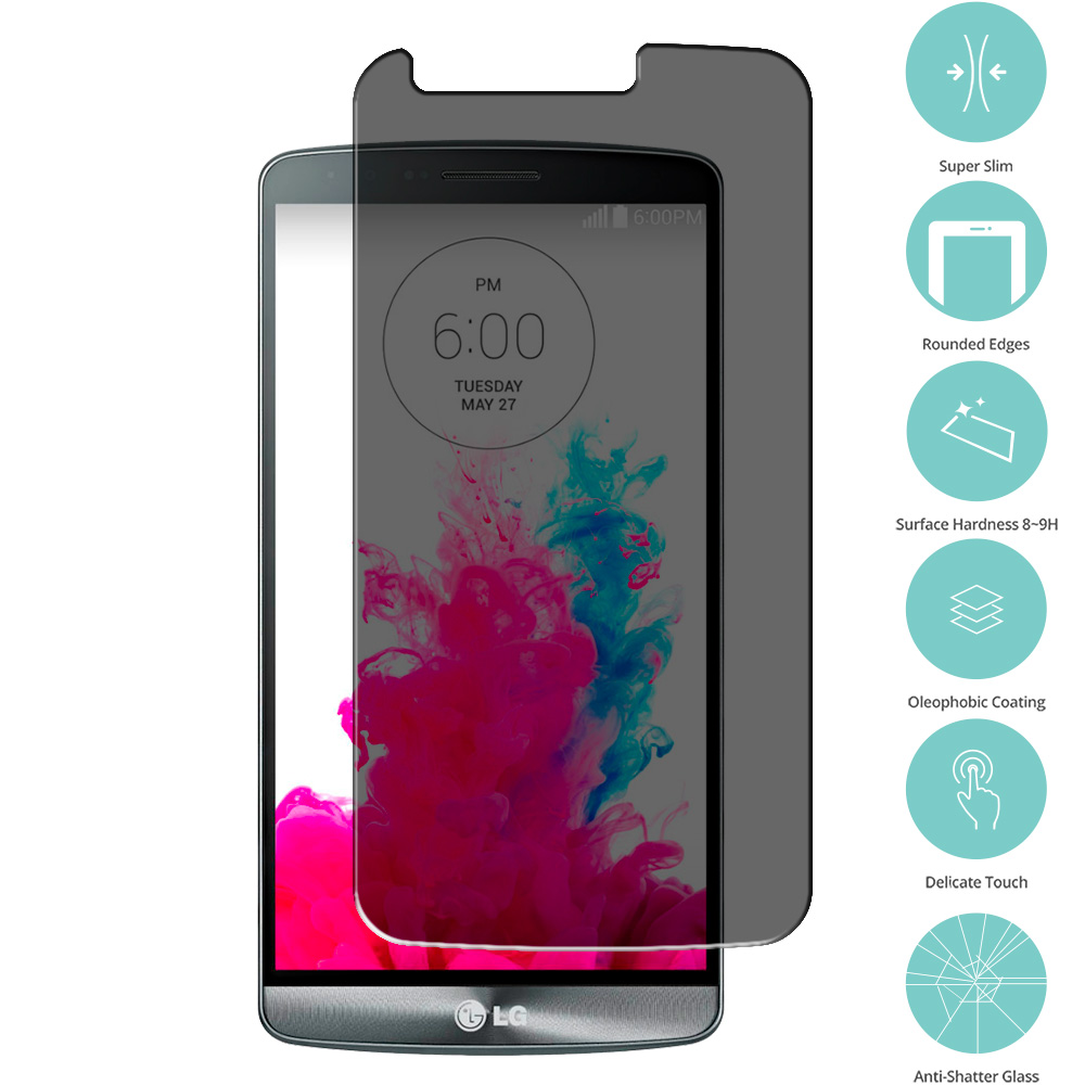 LG G3 Privacy Tempered Glass Film Screen Protector