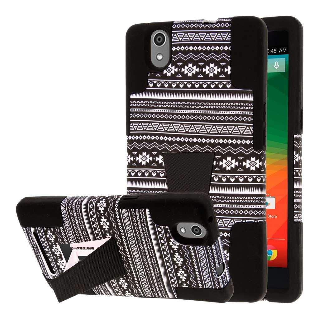 ZTE ZMAX - Black Aztec MPERO IMPACT X - Kickstand Case Cover
