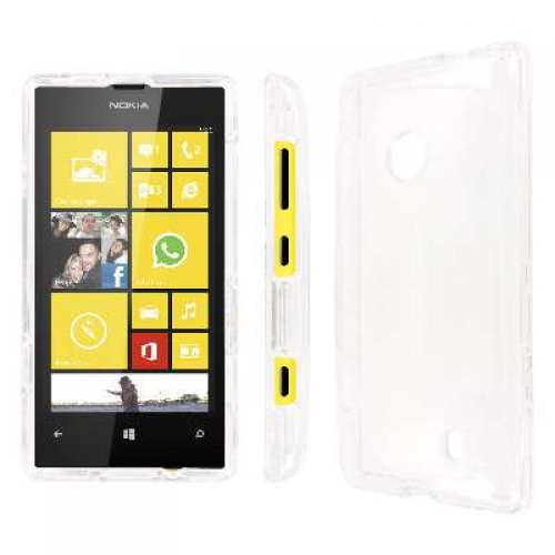 Nokia Lumia 521 MPERO Full Protection Clear Case Cover