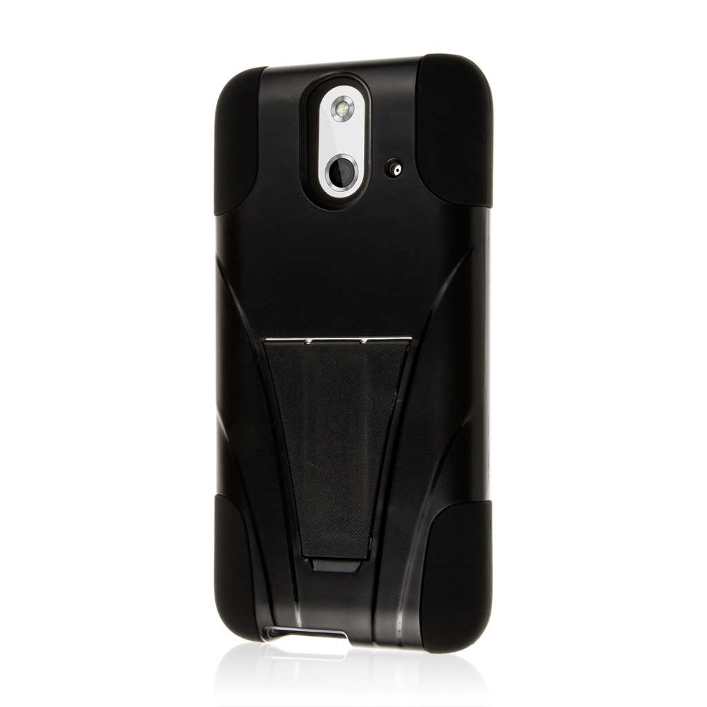 HTC One E8 - Black MPERO IMPACT X - Kickstand Case Cover