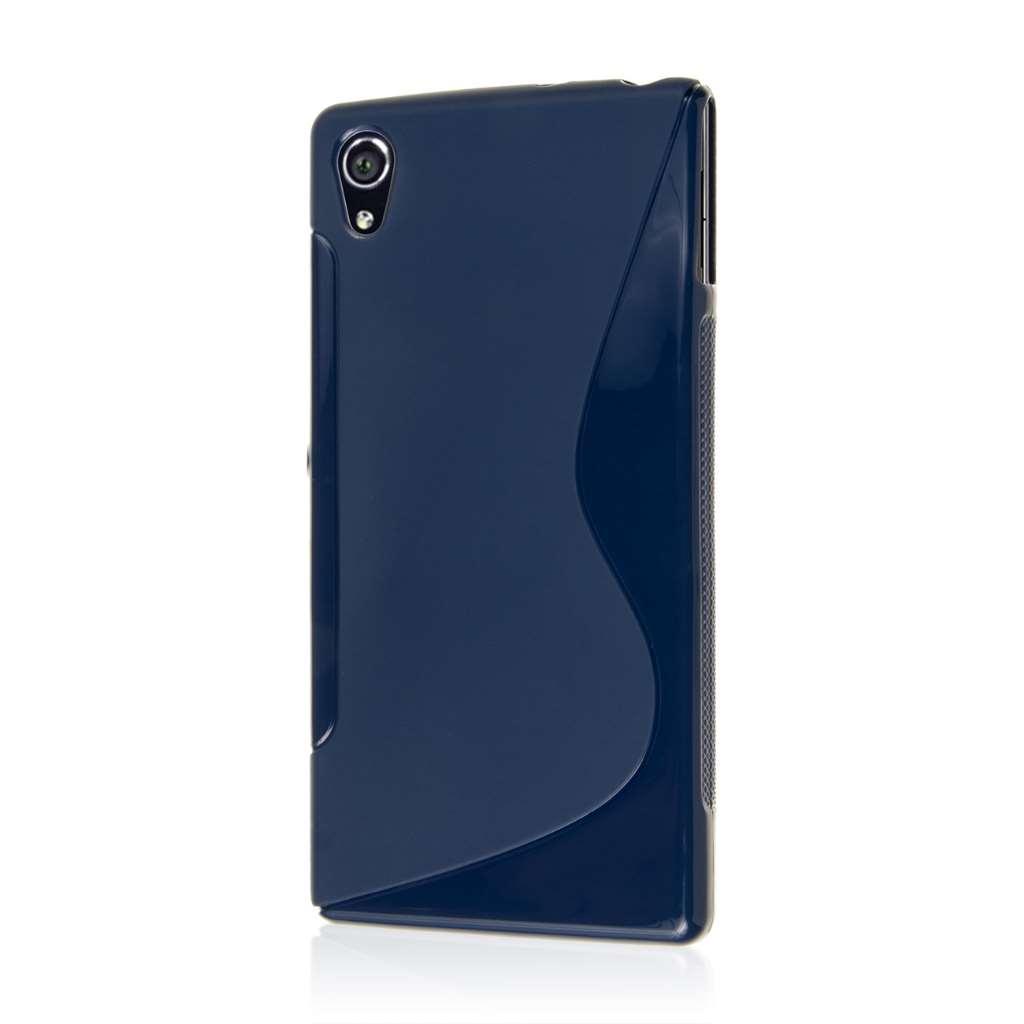 Sony Xperia Z3v - Navy Blue MPERO FLEX S - Protective Case Cover