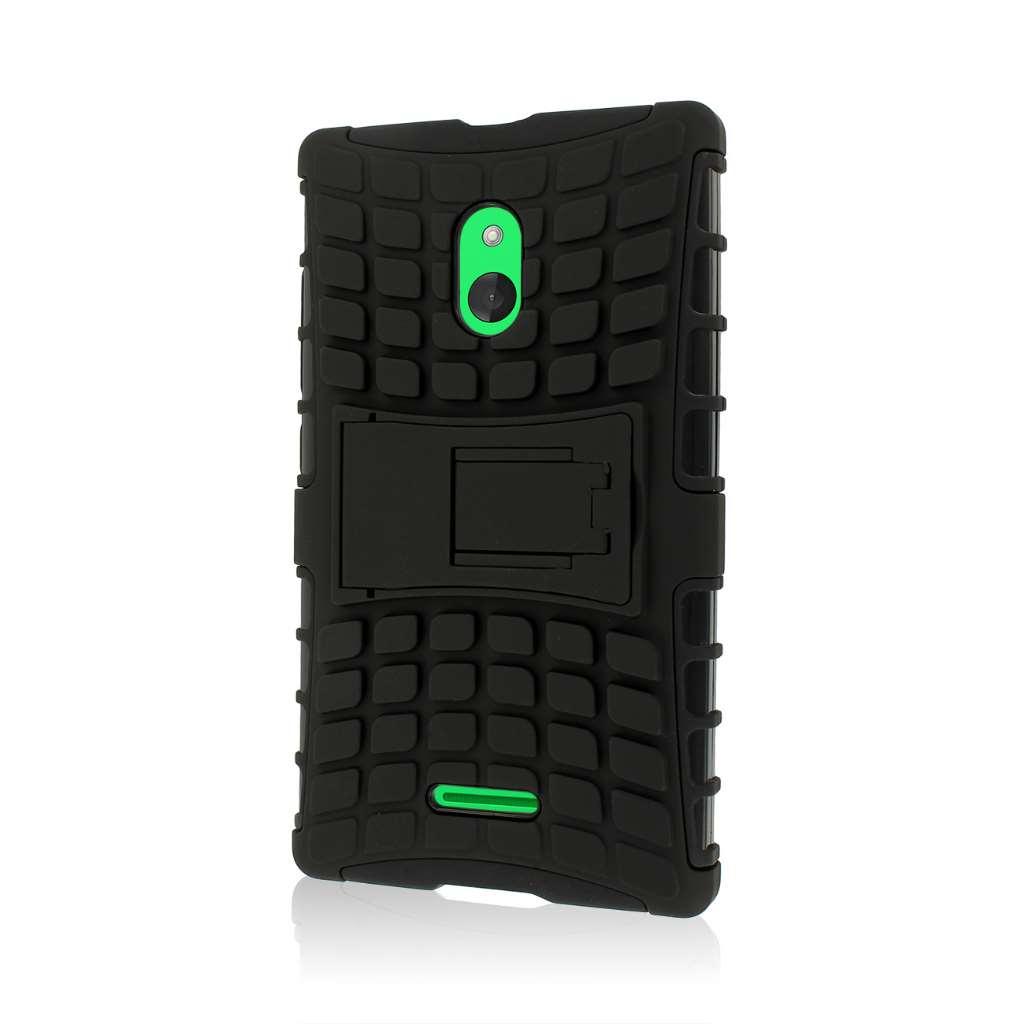 Nokia XL - Black MPERO IMPACT SR - Kickstand Case Cover