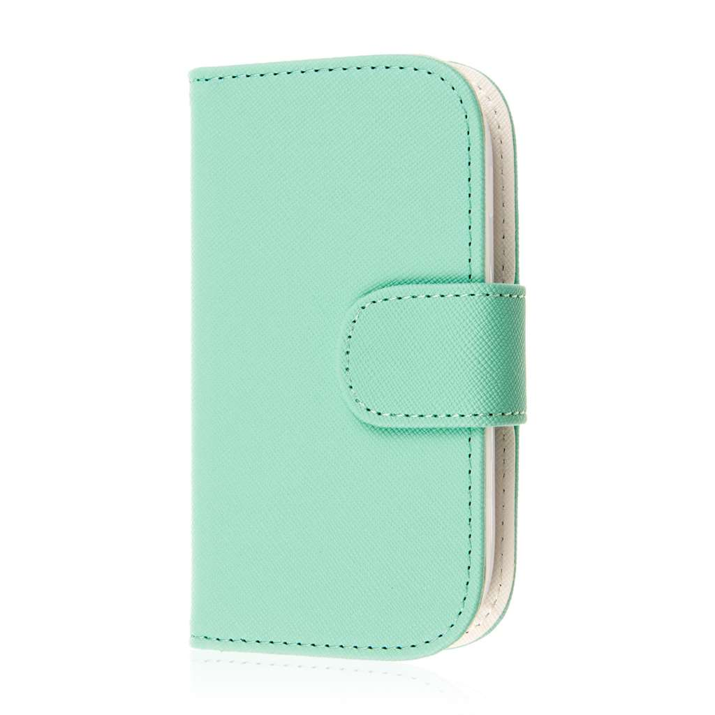 Samsung Galaxy Light - Mint MPERO FLEX FLIP Wallet Case Cover