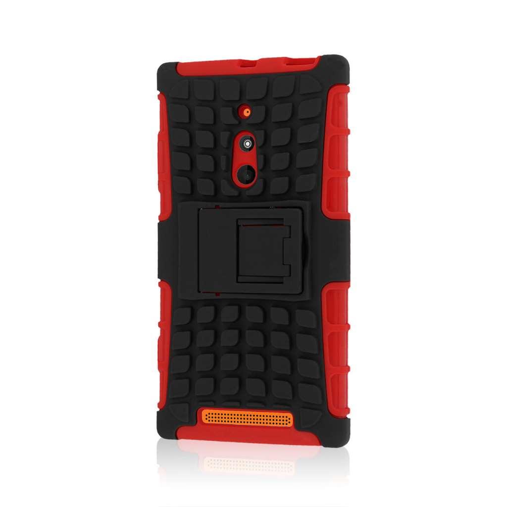Nokia Lumia 830 - Red MPERO IMPACT SR - Kickstand Case Cover