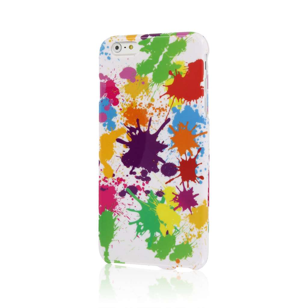 Apple iPhone 6 6S Plus - Neon 90s Combo Pack : MPERO SNAPZ - Case Cover : Color White Paint Splatter