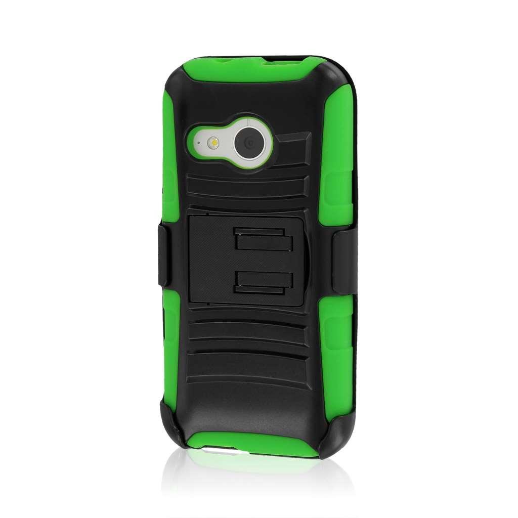 HTC One Mini 2 - Neon Green MPERO IMPACT XT - Kickstand Case Cover
