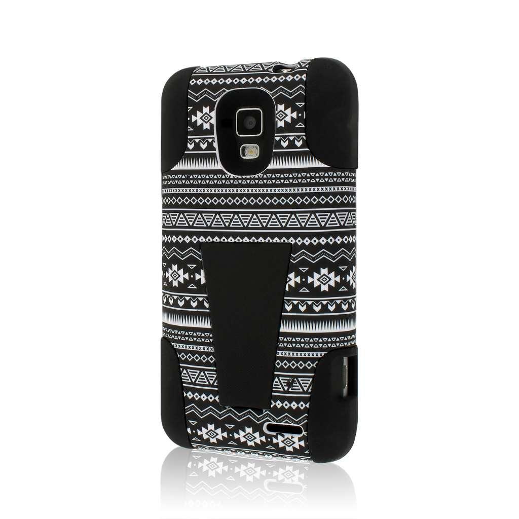AT&T Z998 - Black&White Aztec MPERO IMPACT X - Kickstand Case Cover