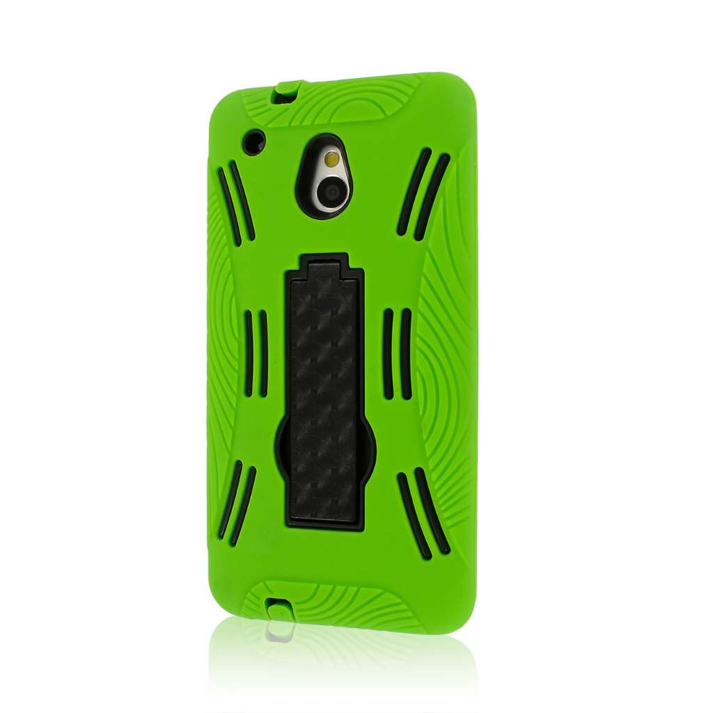 HTC One Mini M4 - NEON GREEN MPERO IMPACT XL - Kickstand Case Cover