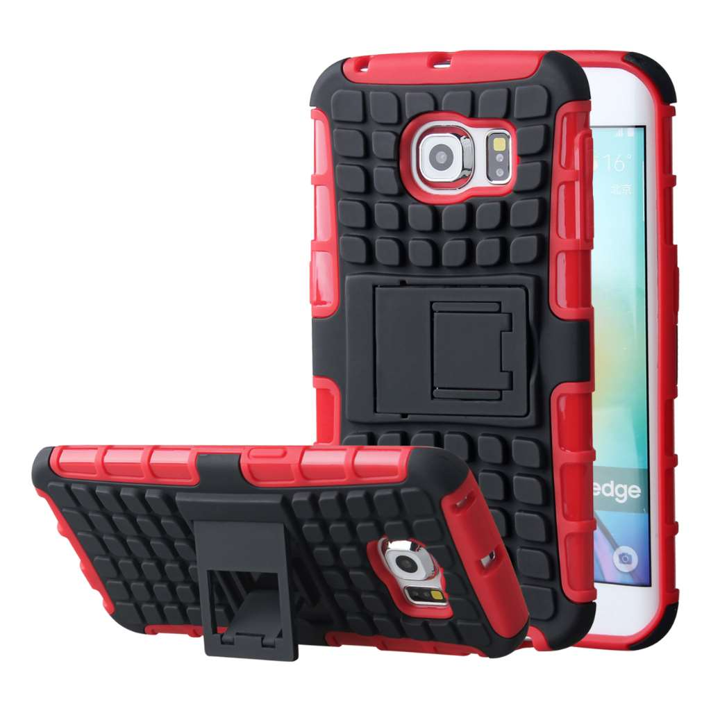 Samsung Galaxy S6 Edge - Red MPERO IMPACT SR - Kickstand Case Cover