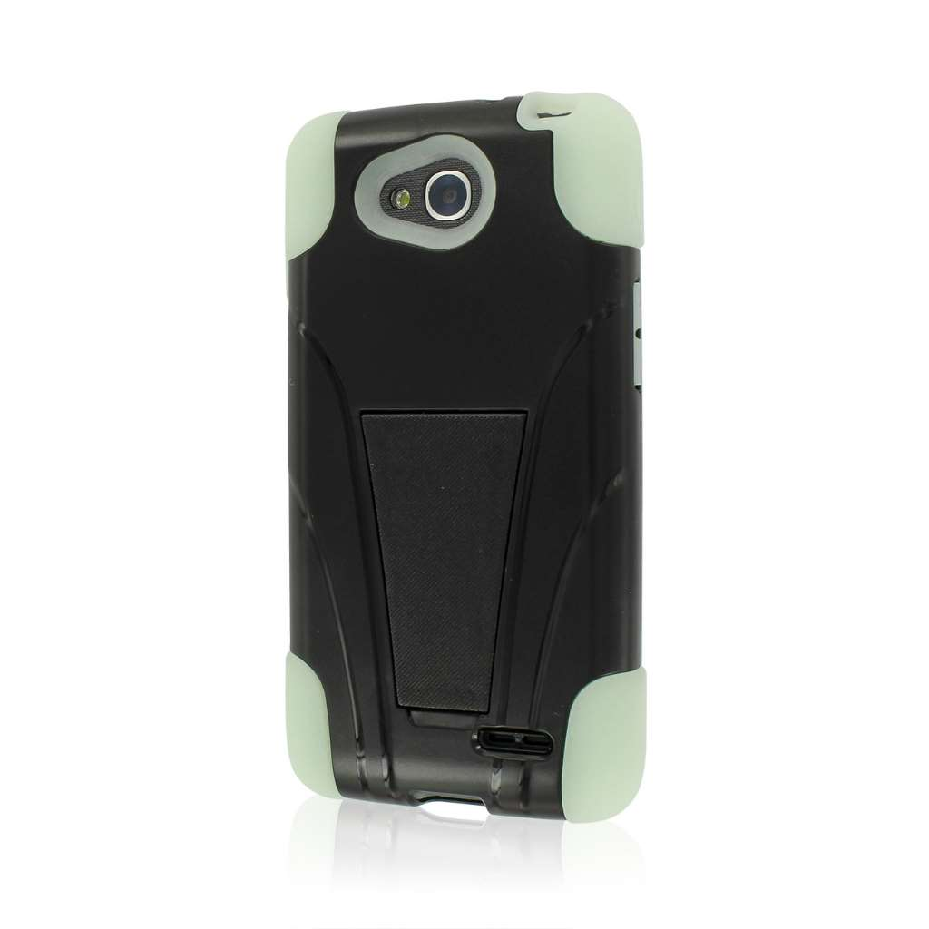 LG Optimus Exceed 2 - Glow in the Dark Green MPERO IMPACT X - Kickstand Case