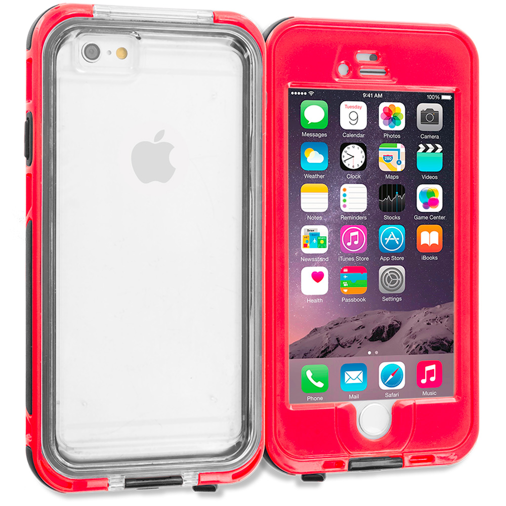 Apple iPhone 6 6S (4.7) Red Waterproof Shockproof Dirtproof Hard Full Protection Case Cover