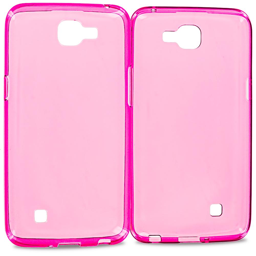 LG Spree Optimus Zone 3 VS425 K4 Hot Pink TPU Rubber Skin Case Cover