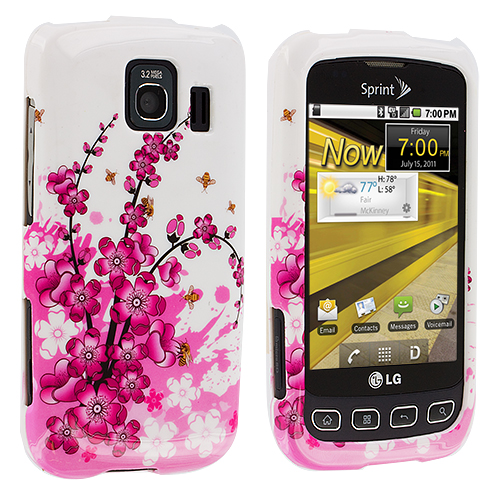 LG Optimus S LS670 / U / V Spring Flowers Design Crystal Hard Case Cover