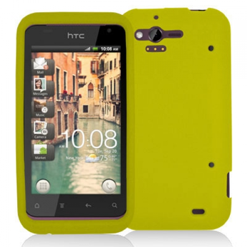 HTC Rhyme / Bliss Yellow Silicone Soft Skin Case Cover