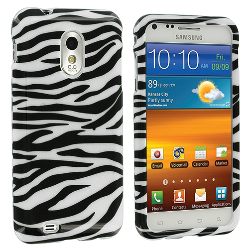 Samsung Epic Touch 4G D710 Sprint Galaxy S2 Black / White Zebra Design Crystal Hard Case Cover