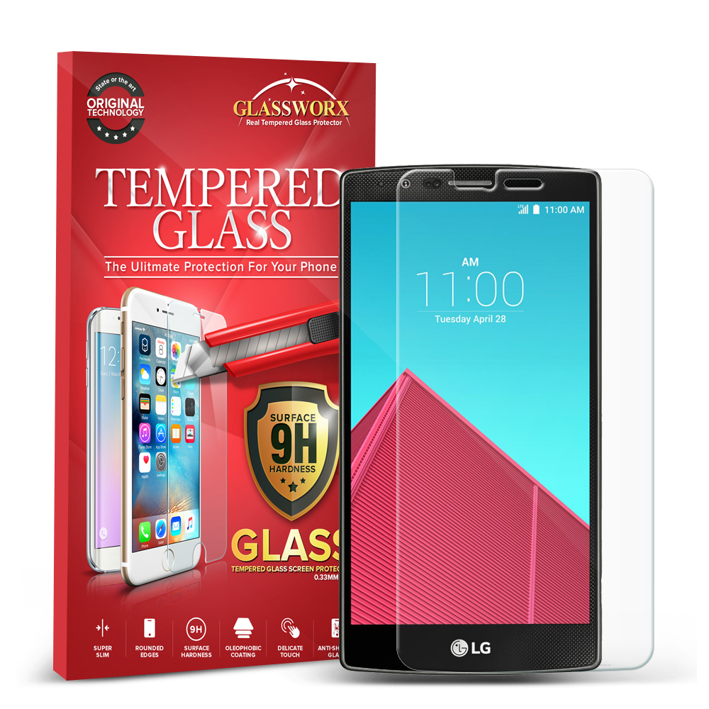 LG G4 GlassWorX HD Clear Tempered Glass Screen Protector