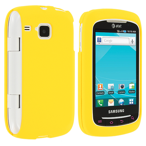 Samsung Doubletime i857 Yellow Hard Rubberized Case Cover