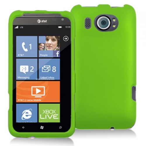 HTC Titan II 2 Neon Green Hard Rubberized Case Cover