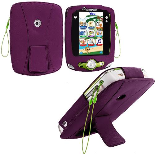 Leapfrog Leappad Purple Flip Folio Pouch Case Cover Stand