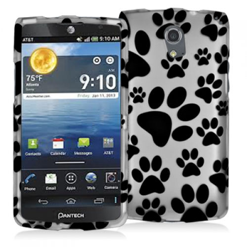Pantech Discover Dog Paw Hard Rubberized Design Case Cover