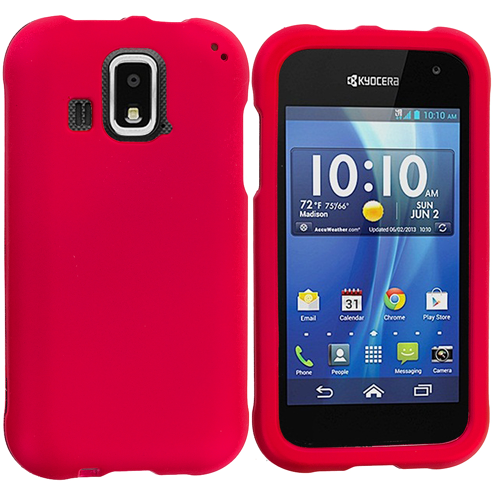Kyocera Hydro XTRM Red Hard Rubberized Case Cover